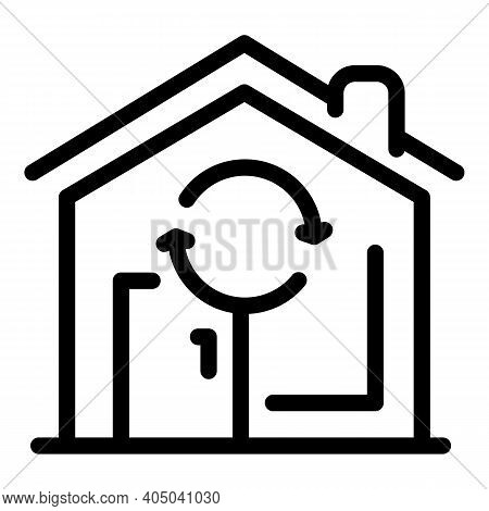 Agency Rent House Icon. Outline Agency Rent House Vector Icon For Web Design Isolated On White Backg