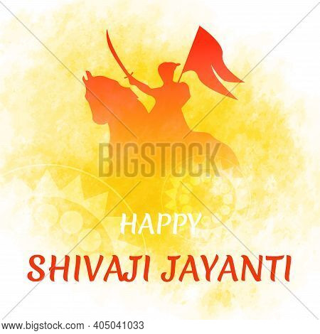 Shivaji Jayanti Is A Festival And Public Holiday With Silhouette