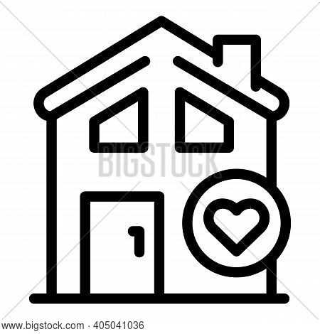 New Rent House Icon. Outline New Rent House Vector Icon For Web Design Isolated On White Background