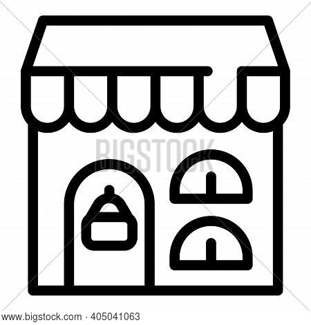 Rental Shop Icon. Outline Rental Shop Vector Icon For Web Design Isolated On White Background