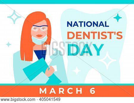 National Dentist's Day Vector Illustration. Greeting Web Banner For Social Media, Posters. National