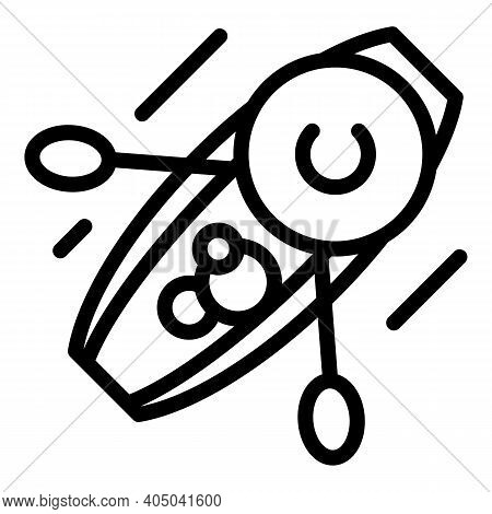 Floating Fruit Seller Icon. Outline Floating Fruit Seller Vector Icon For Web Design Isolated On Whi