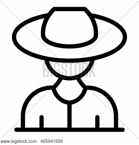 Asian Floating Seller Icon. Outline Asian Floating Seller Vector Icon For Web Design Isolated On Whi