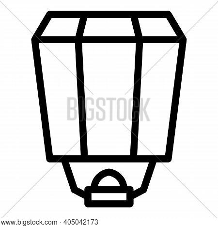 Traditional Floating Lantern Icon. Outline Traditional Floating Lantern Vector Icon For Web Design I