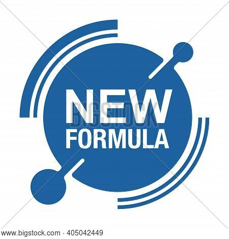 New Formula Circular Futuristic Stamp - Isolated Vector Sticker For Packaging Information And Confor