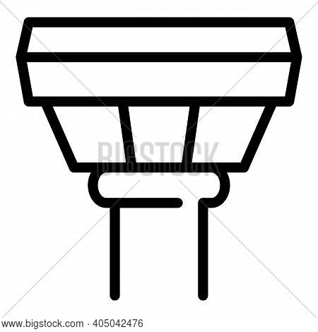 Sewage Icon. Outline Sewage Vector Icon For Web Design Isolated On White Background