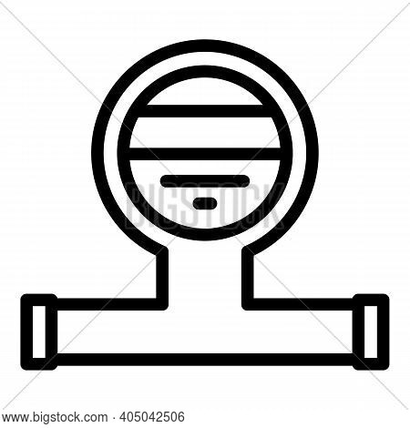 Sewage System Icon. Outline Sewage System Vector Icon For Web Design Isolated On White Background