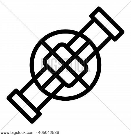 Factory Sewage Icon. Outline Factory Sewage Vector Icon For Web Design Isolated On White Background