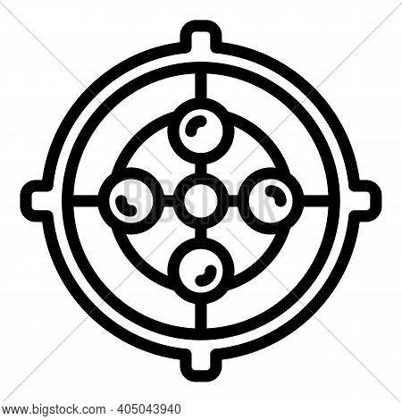 Separative Manhole Icon. Outline Separative Manhole Vector Icon For Web Design Isolated On White Bac