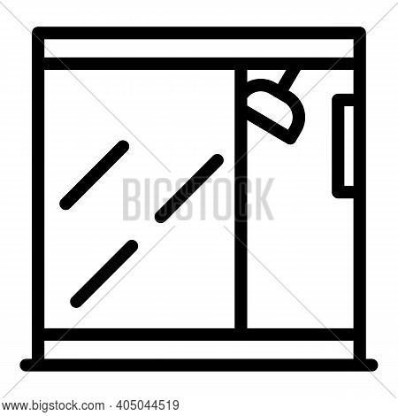 Modern Shower Stall Icon. Outline Modern Shower Stall Vector Icon For Web Design Isolated On White B