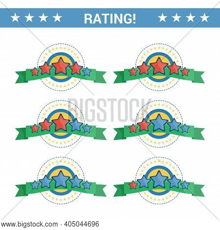 Set Of Stars Rating To Rate How Good The Service Offered Is. Rating Stars, Design Elements, Customer
