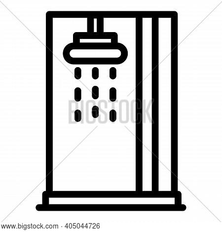 Stall Installation Icon. Outline Stall Installation Vector Icon For Web Design Isolated On White Bac
