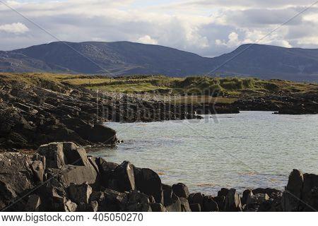 Connemara (ireland), - July 20, 2016: Coast In Connemara, Co. Galway, Ireland
