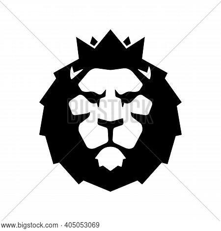 Lion Head With Crown Luxury Logo Icon Template. Elegant Lion Logo Design. Elegant Lion Symbol Vector