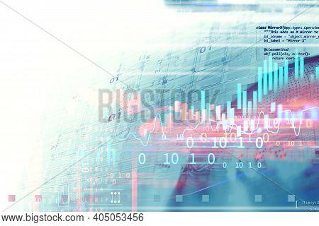 Futuristic Technology Background And Hi-tech Computer Technology Background. Abstract Background. Ci