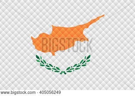 Mosaic Flag Of The Cyprus - Illustration,  Three Dimensional Flag Of Cyprus