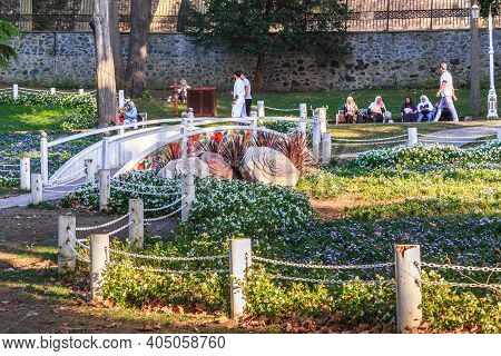 Istanbul, Turkey - September 13, 2017: This Is A Corner Of The Old Gulhane Park In The Historic Cent