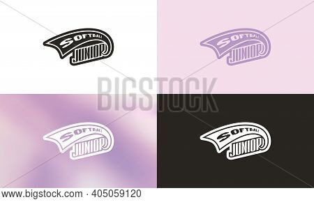 Emblem For Softball Junior League. Color Variation