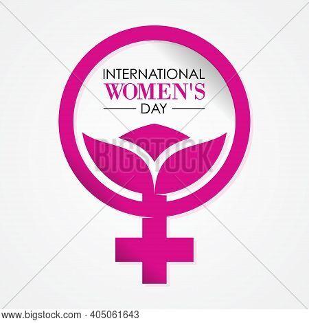 International Womens Day Letter On The White Background. Vector Illustration Eps.8 Eps.10