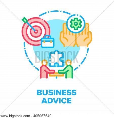 Business Advice Vector Icon Concept. Business Meeting And Consultation, Consultant Explaining Strate