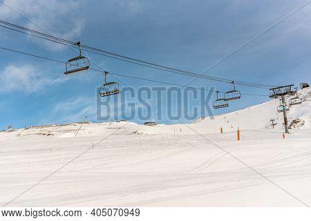 Grandvalira, Andorra: 2021 January 17: Free Seat At The Grandvalira Ski Resort In Andorra In Times O