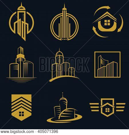 Real Estate Logo Vector Icon Design For Business And Company Fully Editable