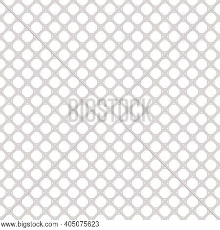 Vector Seamless Pattern With Diamond Grid, Net, Mesh, Lattice, Grill, Diagonal Lines, Squares. Abstr
