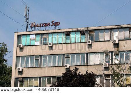 Novi Sad, Serbia - August 14, 2019: Headquarters Of Magyar Szo Newspaper In Ujvidek. Magyar Szo Is A