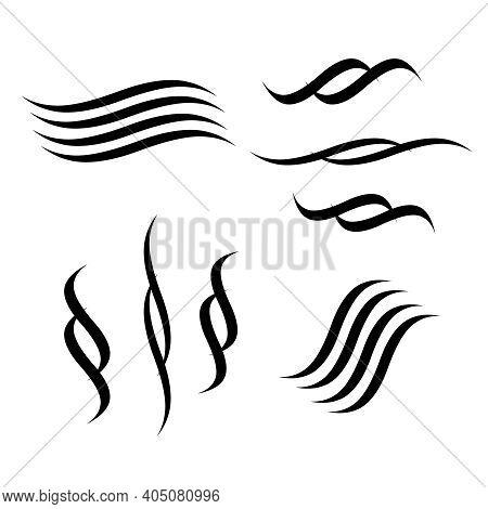 Lettering Underlines. Underlines Calligraphy Drawing Element Vector