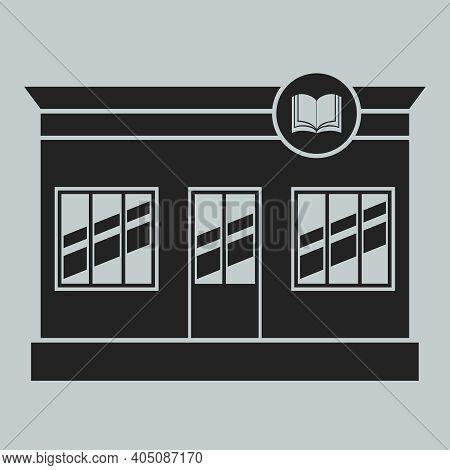 Bookstore, Bookstore Building Icon. Vector, Cartoon Illustration. Vector.
