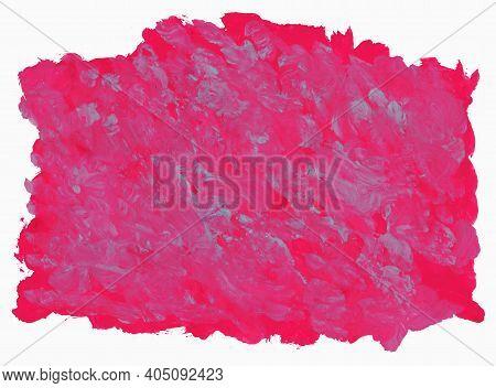 Bright Crimson Background. Brush Stroke Texture. Acrylic Background.
