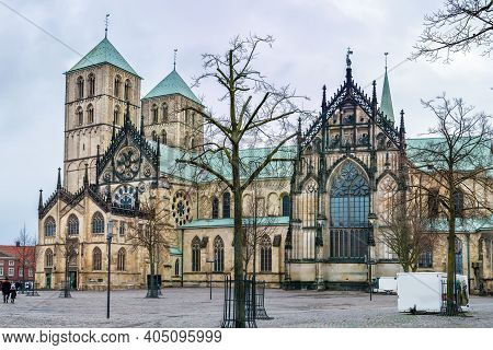 Munster Cathedral Or St. Paulus Dom Is The Cathedral Church Of The Roman Catholic Diocese Of Munster