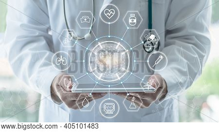 Medical Tech Science, Innovative Iot Global Healthcare Ai Technology, World Health Day With Doctor O