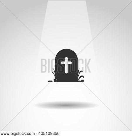 Grave Icon. Death Vector Icon, Simple Grave Icon