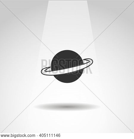 Saturn Planet Vector Icon, Simple Saturn Icon