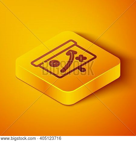 Isometric Line Planning Strategy Concept Icon Isolated On Orange Background. Cup Formation And Tacti