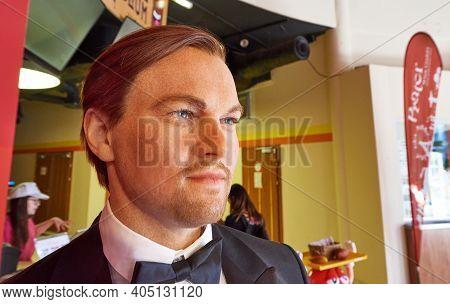 Vienna, Austria - September 2018: Leonardo Dicaprio Wax Figure In Madame Tussauds Museum