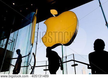 Hong Kong, China - October 6, 2018: Apple Store In Hong Kong