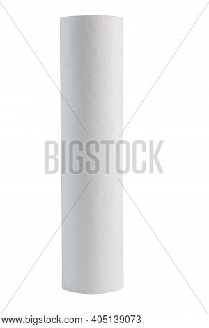 New White Mechanical Polypropylene Water Filter Pp 5 Type 10sl Isolated On White Background,