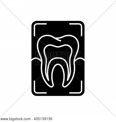 Dental X-ray Black Glyph Icon. Dentistry Radiography. Instruments For Dental Treatment. Dental Resea