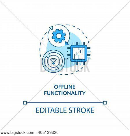 Offline Functionality Concept Icon. Saas Argument Idea Thin Line Illustration. Offline Mode. Sync Da