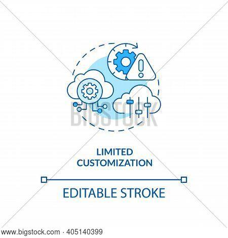 Limited Customization Concept Icon. Saas Challenge Idea Thin Line Illustration. Customizing Software