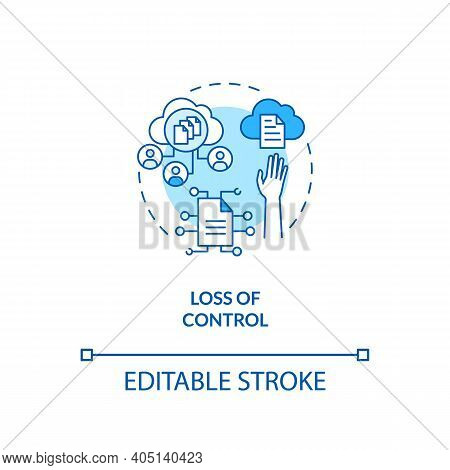 Control Loss Concept Icon. Saas Challenge Idea Thin Line Illustration. Preventing Data Loss. Storage