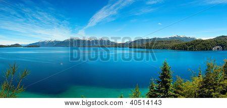 Panorama View Of Nahuel Huapi Lake, Close To Bariloche, Argentina