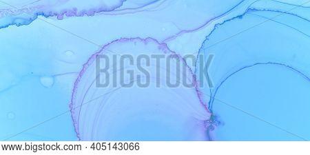Abstract Ink Stains Texture. Blue Pastel Fluid Splash. Pink Pastel Fluid Design. Watercolour Paint W