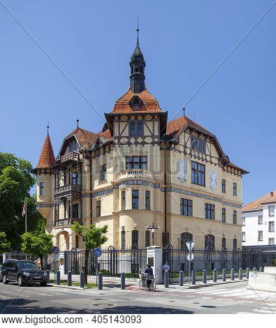 Slovenia, Ljubljana - June 20, 2013: The Building Of The Us Embassy In Ljubljana