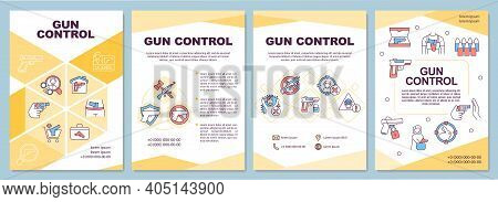 Non State Armed Groups Brochure Template. Arms Trade Regulation. Flyer, Booklet, Leaflet Print, Cove