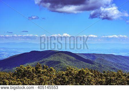 View Of The Mountains Surrounding Reddish Knob, West Virginia