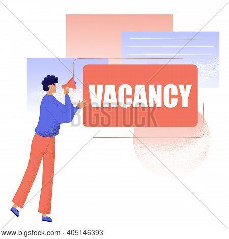 Open Vacancy. Hiring Or Hiring Workers Open Vacancy Banner. We Are Hiring. Employee Selection. Job S
