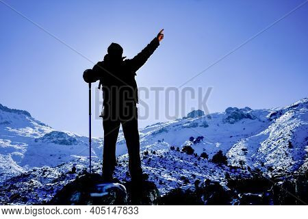 Mountaineer Goal, Success And States Of Happiness